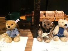 Rare Steiff Delivery Cart 3 Teddy Bears 2003 Ean 038914 Nib Coa #222/1200