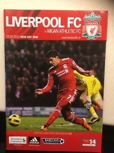 Liverpool V Wigan Athletic Programme 12/02/11