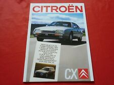 CITROEN CX Limousine Break 22 TRS 25 GTi Turbo 2 Prestige Prospekt Brochure 1987