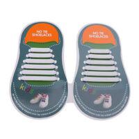 Facile Pas Lacets Elastique Plat de Chaussures en Dentelle de Silicone pour