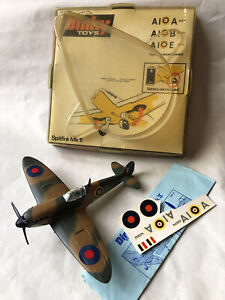 WORKING VINTAGE DIECAST DINKY TOYS RAF SUPERMARINE SPITFIRE WW2 FIGHTER PLANE
