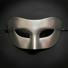 Silver Simple & Elegant Masquerade For Men Mask Costume Prom Party Mask