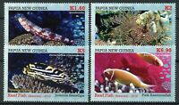 Papua New Guinea PNG Fish Stamps 2019 MNH Reef Fishes Corals Marine 4v Set