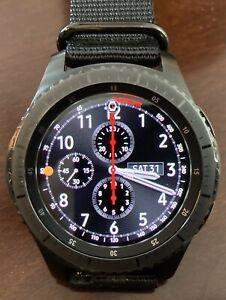 Samsung Galaxy Gear S3 Frontier SM-R765A AT&T 4G LTE Smart Watch 46mm - DarkGray