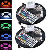 10M Led Strip Lighting 2*5M 5050 RGB Flexible Color Changing Light Lamp Decor #2