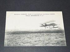 CPA 1909 AVIATION BIPLAN FARMAN VOISIN ANTOINETTE AVIATEUR PIONNIERS DE L'AIR