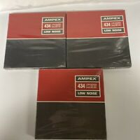 "AMPEX 434 LOW NOISE 1/4""X 1200' 7"" REEL NEW OLD STOCK LOT OF 3"
