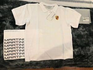 PORSCHE DESIGN DRIVER'S SELECTION CRESTED BOYS WHITE POLO SHIRT 140/146 NIBWT