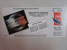 Zz Top German Concert Ticket Genrofte Stadion Juni 12 1991 Recycler Cd Era Tour