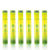 6 x Chatsworth Outdoor Garden Citronella Incense Sticks With Holder- 240 Sticks
