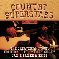 Country Music Superstars by Eddie Rabbitt/Mickey Gilley - CD