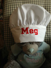 Personalised Chef's Hat - Embroidered-Adjustable Fastening-Fits Child to Adult