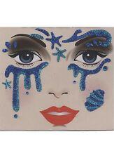 Tatoo éphémère paillettes bleu roi et turquoise stras bleus et tatouages tempo