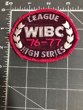WIBC Women's International Bowling Congress Patch League High Series 1976 1977