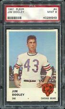 1961 Fleer #4 Jim Dooley PSA 9 Chicago Bears -