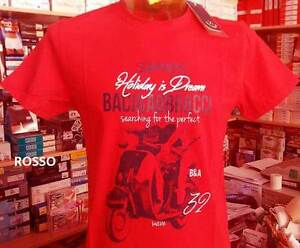 T-shirt uomo Baci & Abbracci manica corta girocollo con stampa vespa art BAM2153