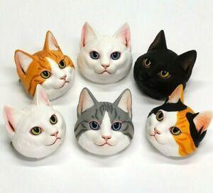 Cat Face Badge Figure Gashapon Japanese Blind Box Toy  1 Random Toy
