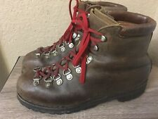 Vintage Galibier Richard Pontvert Heavy Leather Hiking Boots France US Men's 9.5