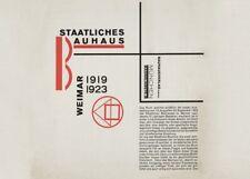 "LASZLO MOHOLY-NAGY  ""Staatliches Bauhaus Weimar"" Bauhaus Constructivism Poster"