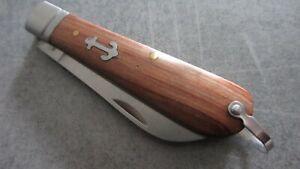 couteau de poche marin manche bois