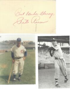 PETE REISER, 1941-42, 1946 BROOKLYN DODGERS ALL-STAR, SIGNED GPC WITH PHOTOS