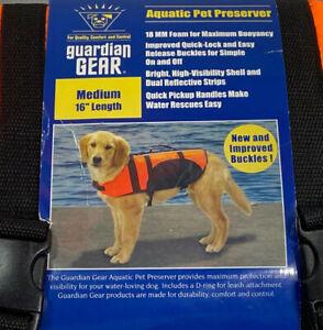 "Guardian Gear Aquatic Preserver for Dogs, 16"" Medium, Orange"