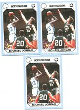 Michael Jordan 1990 North Carolina Collegiate Collection #61 Lot of 3 DJD