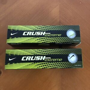 Nike Crush Extreme Golf Balls - Lot Of 2 Packs Of 4 - 8 Total - NEW