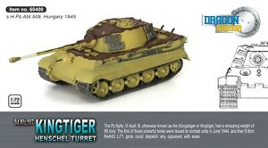 FINAL 4 DRAGON ARMOR 1/72 KINGTIGER HENSCHEL GERMAN HEAVY HUNGARY 1945  #60400