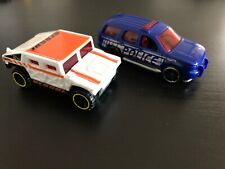 Hot Wheels Chevy Tahoe 2007 Blue Police - General Corp Rescue Hummer AM