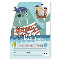 Pirates Birthday Party Invitations | 20 Invite Cards | Children's Party Invites