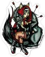 15933 Red Riding Hood & Big Bad Wolf Cherry Martini Transparent Sticker / Decal