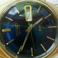 Blue Dial Vintage 1970 Men's Seiko DX 17J Automatic Day Date Watch 6106-8570 Run