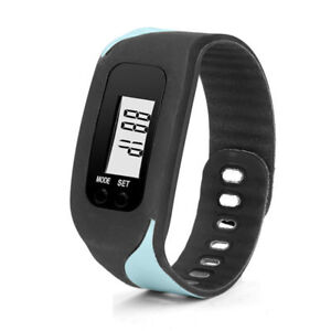 Digital LCD Pedometer Run Step Walking Distance Calorie Counter Watch