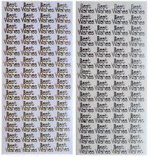 Best Wishes 393 Old English Script 2 X Gold Peel Offs