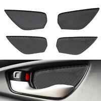 4x Carbon Fiber Interior Door Handle Bowl decalcomania Per Honda Civic 2016-2018