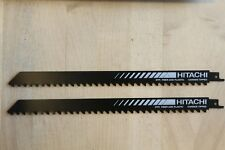 "(2) Hitachi 12"" x 3/4"" 3 TPI Carbide Tipped High Speed Reciprocating Saw Blade"