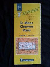 Carte Michelin N° 60 Le Mans Chartres Paris 2001