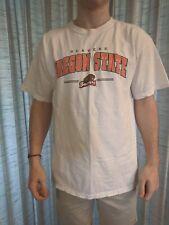 Men's Gildan Ultra Cotton Oregon State Beavers Osu White T-Shirt Size Large