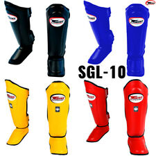 TWINS SPECIAL SGL-10 SHIN GUARDS MUAY THAI BOXING MMA KICKBOXING SHINGUARD