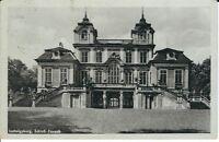 """Ansichtskarte Ludwigsburg """"Schloss Favorit"""" 1942 mit Marke Hitler - schwarz/weiß"""