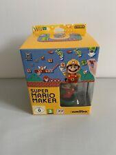 Super Mario Maker Boxed Amiibo - Nintendo Wii U Game - Free P+P