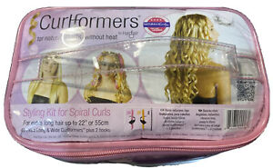 """Hairflair Curlformers Spiral Styling Kit Rollers Extra long hair up To 22"""" long"""