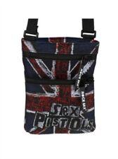 "THE SEX PISTOLS ""UK FLAG"" Rocksax Black Cross-Body Bag New+Free Del"