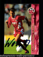 Claus-Dieter Wollitz Panini Card 1.FC Kaiserslautern 1996 TOP Orig. Sign.+A48150