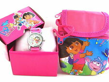 New DORA the explorer Kids 3D Watch & mini Shoulder Bag gift box Free Shipping