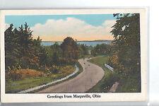 """Vintage Post Card - MARYSVILLE OHIO - """"Greetings"""" , 1920 Unused"""