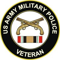 "Army Military Police Iraq Veteran 5.5"" Decal / Sticker 'Officially Licensed'"