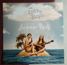 THE DITTY BOPS SUMMER RAINS ISLAND CLOUDS NAKED GUITAR 3.5x3.5 MUSIC STICKER