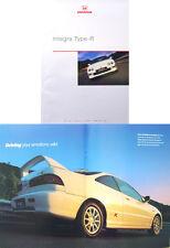 Honda Integra Type R 1998-2000 Original UK Sales Brochure Pub. No. CARM 0053